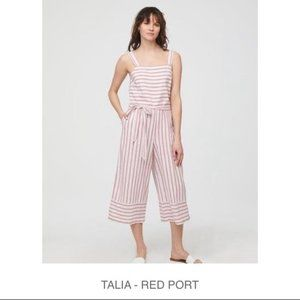 NWT BeachLunchLounge Talia Jumpsuit in Red Port
